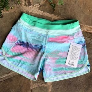 NWT Ivivva Relay racer shorts